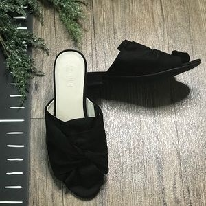 Kenneth Cole Reaction Mule Sandals Black Suede